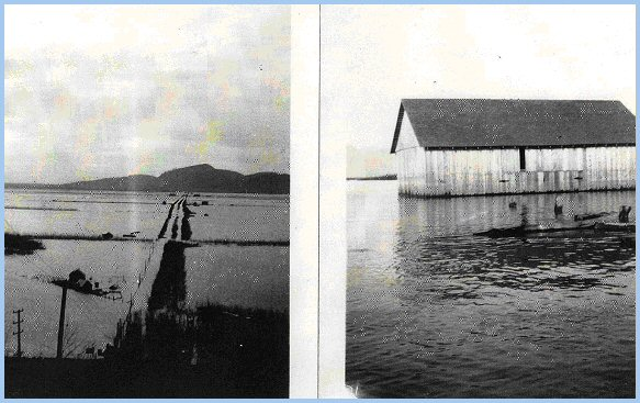 Sumas Prairie in flood - February 1935