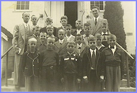 Sunday School Class - 1951-54. Teachers:  D. Klassen and H. Enns