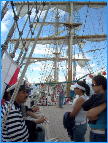 On the Cuauhtemoc - Mexican Sailors and Girls