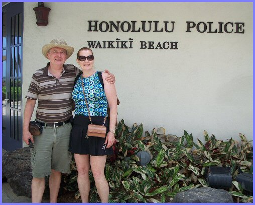 Pat and Elmer, Waikiki Beach