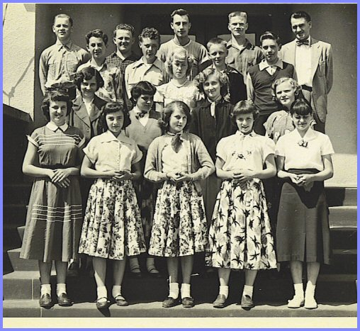 Yarrow School - Grade Eight Class (1953-54)