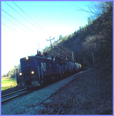Freight Train at Wilson Road, Yarrow - December 28, 2004